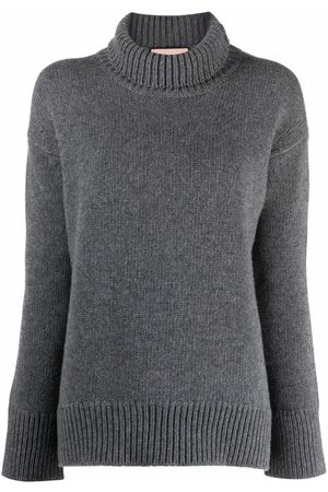 Plan C Roll-neck rib-trimmed jumper - Grey