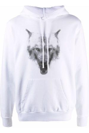 MARCELO BURLON Wolf-print cotton hoodie