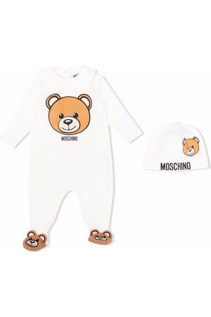 Moschino Teddy bear-motif cotton pajamas