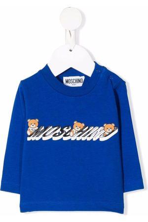 Moschino Hoodies - Logo-print cotton sweatshirt