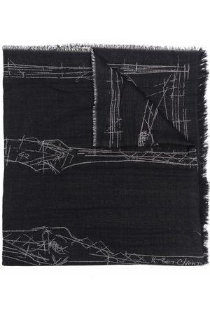 Alexander McQueen Graphic-print wool scarf