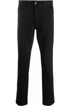 Emporio Armani Men Skinny Pants - Slim-cut logo-patch trousers