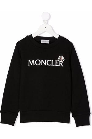 Moncler Boys Hoodies - Logo-print cotton sweatshirt
