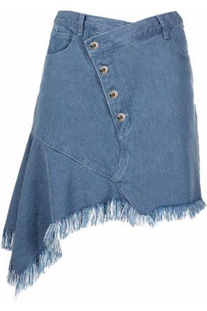 MARQUES'ALMEIDA Asymmetric hem denim skirt