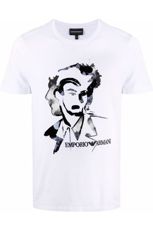 Emporio Armani Men Short Sleeve - Graphic-print short-sleeved T-shirt
