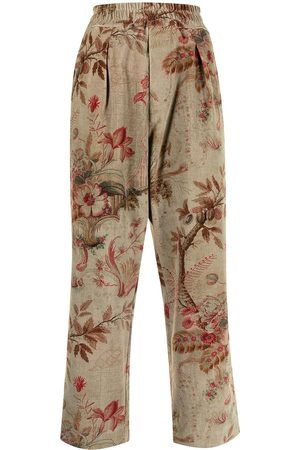 PIERRE-LOUIS MASCIA Women Straight Leg Pants - Floral-print straight-leg trousers - Multicolour