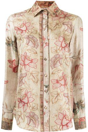 PIERRE-LOUIS MASCIA Floral-print silk blouse