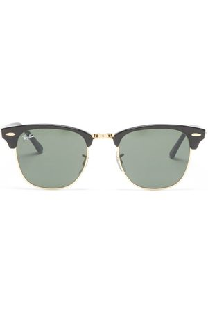 Ray Ban - Clubmaster Square Acetate And Metal Sunglasses - Womens