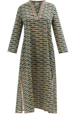 LE SIRENUSE, POSITANO Giada Leopard-print Cotton Kaftan - Womens - Print