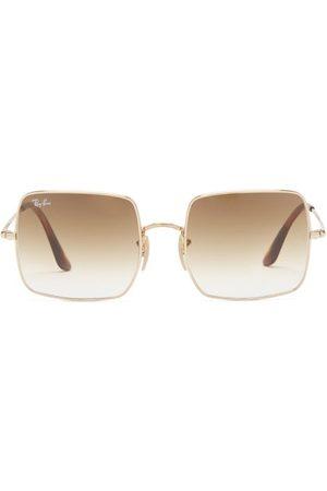Ray Ban - Square 1971 Metal Sunglasses - Womens
