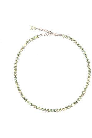 Amina Muaddi Women Necklaces - Tennis Crystal-embellished Necklace - Womens