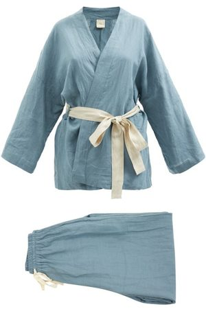 Deiji Studios Women Sweats - 01 Long Linen Pyjama Set - Womens