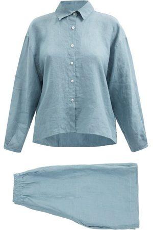Deiji Studios 06 Short Linen Pyjamas - Womens