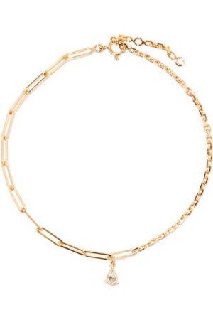 YVONNE LÉON Mixed-chain Diamond & 18kt Anklet - Womens