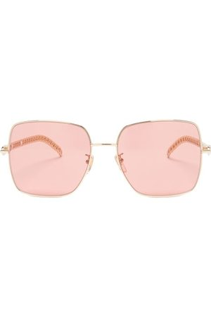Gucci Square Metal Sunglasses - Womens