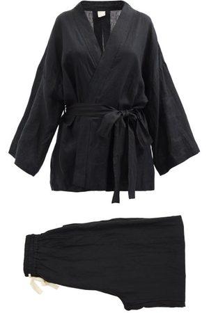 Deiji Studios 01 Long Linen Pyjama Set - Womens