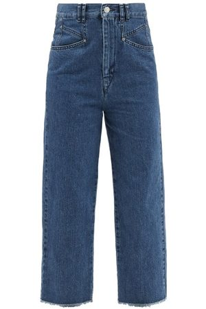 Isabel Marant Dilali High-rise Straight-leg Cropped Jeans - Womens - Mid Denim