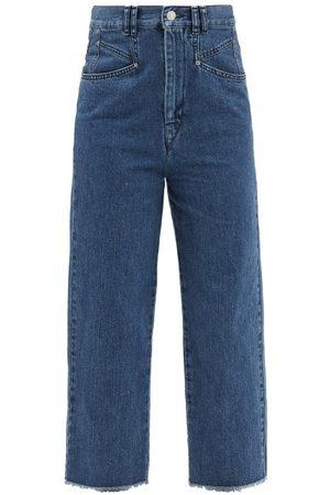 Isabel Marant Women High Waisted - Dilali High-rise Straight-leg Cropped Jeans - Womens - Mid Denim
