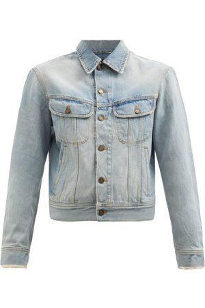 Saint Laurent Women Denim Jackets - Distressed Denim Jacket - Womens - Light Denim