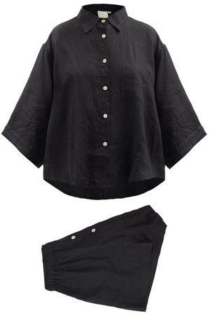 Deiji Studios Women Pajamas - 03 Short Linen Pyjamas - Womens