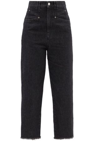 Isabel Marant Dilali High-rise Straight-leg Cropped Jeans - Womens