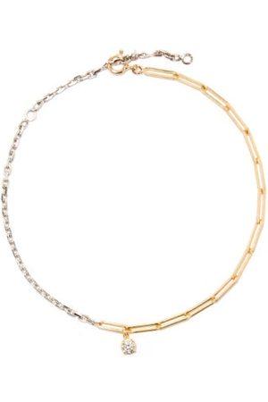YVONNE LÉON Mixed-chain Diamond & 18kt- Anklet - Womens - Multi