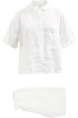 Deiji Studios Women Sweats - 05 Long Linen Pyjamas - Womens
