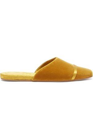 MALONE SOULIERS Women Flat Shoes - Rene Backless Velvet Flats - Womens