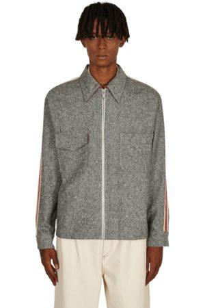 Wales Bonner Men Jackets - Charlie zipped shirt jacket ASH GREY S