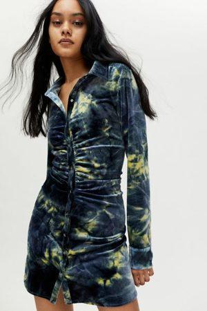 Jaded London Velvet Bodycon Shirt Dress