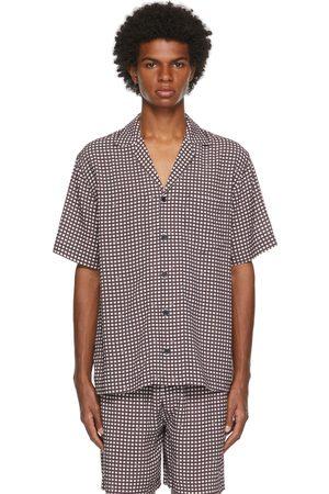 CDLP Burgundy & White Check Pool Short Sleeve Shirt