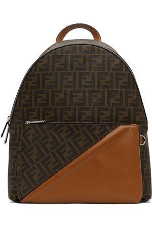 Fendi Brown Leather 'FF' Backpack
