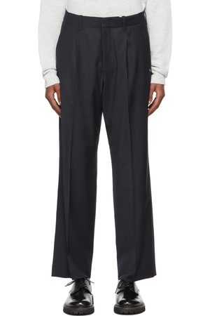 OUR LEGACY Navy Chintz Borrowed Chino Trousers