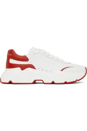 Dolce & Gabbana White & Red Daymaster Sneakers