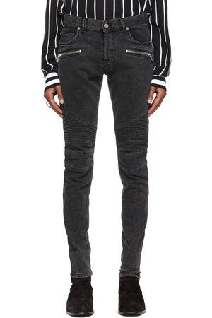 Balmain Black Ribbed Slim Jeans