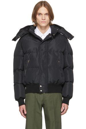 Alexander McQueen Black Faille Puffer Jacket