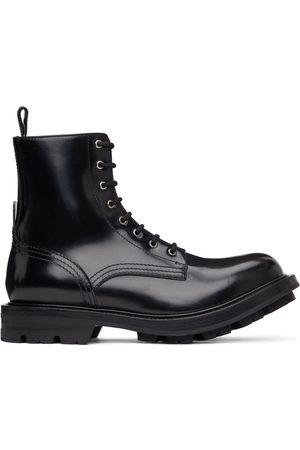 Alexander McQueen Black Polished Work Boots