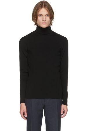 Ralph Lauren Black Slim Wool Turtleneck