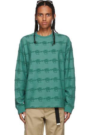 Brain Dead Green Running Head Long Sleeve T-Shirt
