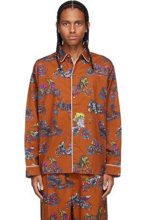 Brain Dead Brown Moto Pyjama Shirt