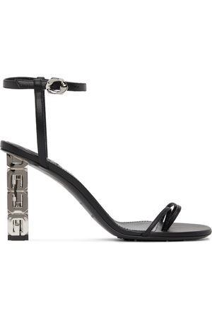 Givenchy Black Triple Toes Heeled Sandals