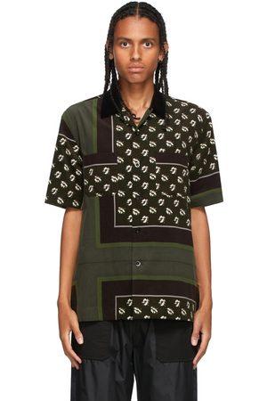 SACAI Brown & Khaki Floral Print Shirt