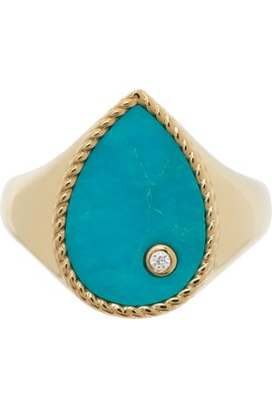 YVONNE LÉON Gold & Blue Poire Signet Ring