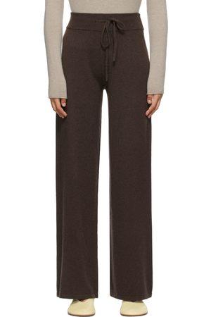 Lisa Yang Brown Cashmere 'The Sofi' Lounge Pants