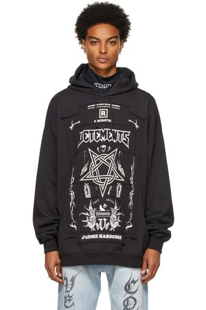 VETEMENTS Men Hoodies - Black 'Limited Edition' Hardcore Patched Logo Hoodie