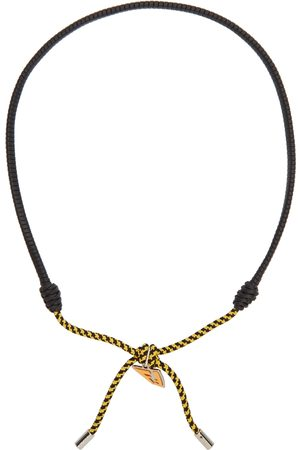 Fendi Black & Yellow FF Vertigo Necklace