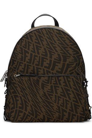 Fendi Brown & Tan FF Vertigo Backpack