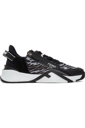 Fendi Black FF Vertigo ' Flow' Low-Top Sneakers