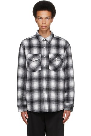 NOON GOONS Grey & White Flannel Tahoe Shirt