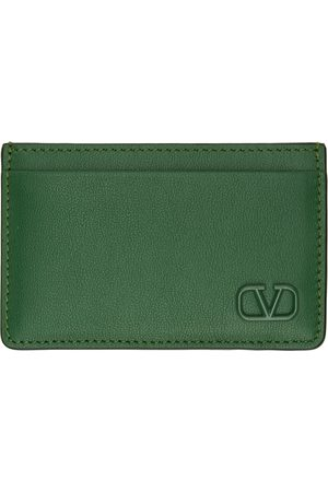 VALENTINO GARAVANI Green VLogo Card Holder